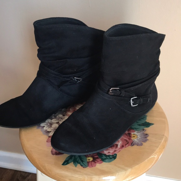 girls black dress boots